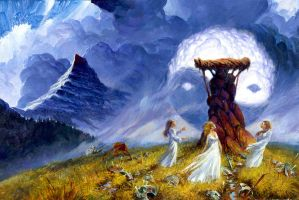 'A Memory of Light' cover draft by Darrel K. Sweet by ArcangHell