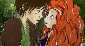 Hiccup y Merida!  Final Step by Mitsukichan17