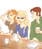 Table Reading by maybelletea