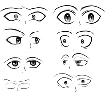 Day 3 - Eye Practice: Emotions, nose, angles by HarryKayan