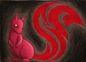 """Tribal """"Squirrel"""" ACEO by PanHesekielShiroi"""