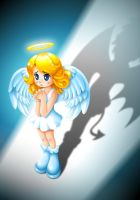 Good vs. Evil - Angel Pray by Saberox