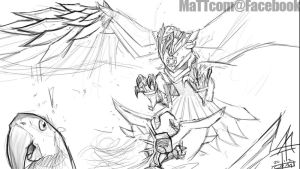 Solari Hunter Anivia - Sketch by MaTTcomGO