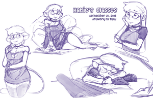 Katie and her Glasses - Sketches by TtotheKay