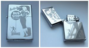 MARILYN MONROE - BUS STOP - engraved lighter by Piciuu