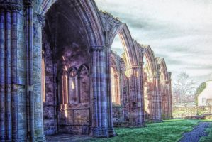 Melrose Abbey Ruins by PaulWeber