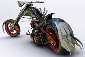 horror chopper bike by rubenvoorhees1