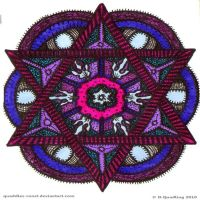 Watching You Mandala by Quaddles-Roost