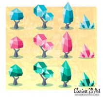 - Crystal forest - #GameAssets by Clarisse2DArt