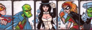 DC Sketch Cards by JeremyTreece