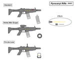 AA63 Pyroceryl Rifle by Artmarcus