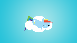 Minimalism Rainbow Dash by petirep