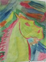 Watercolour Horse by evilness-2008