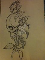 :ONL: Beauty In Death - Tattoo Design by overnightlover