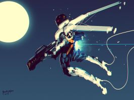 Hot Space Chick Spitpaint Challenge by benedickbana