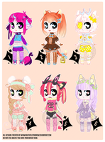 Level Auction (chibi and fullbody)-PAYPAL: CLOSED by NauticalSparrow