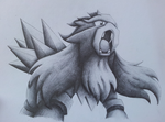 Entei by Valodeon