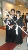 Isshin and Rukia by OddBlood