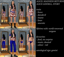 The Sims 3 MR - Alice Liddell2 by aftermathisseconday