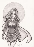 Supergirl - Pencil by BlueUndine