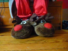 Reindeer Slippers by ExileLink