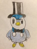 Top Hat Piplup by nintendolover2010