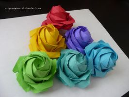 Sato Naomiki Origami Pentagon Rose by OrigamiPieces