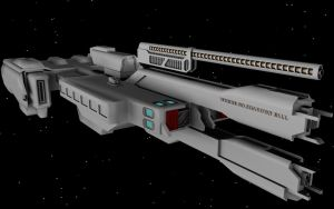 HALO 2 UNSC Frigate WIP 5 by korblborp
