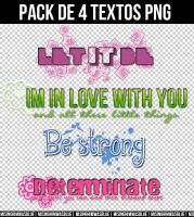 +Pack 4Textos PNG by misinghimwasblue