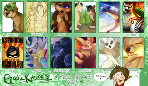 A Year in Art: 2013 Summary by GaelicKitsune