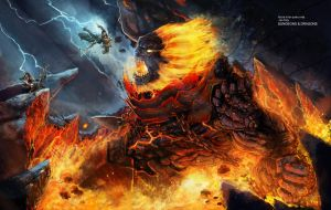 The Molten God Vanquished by django-red
