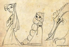 Fantasy characters sketches by juanbauty