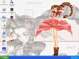 Aerith prettiness desktop by peppermintwind