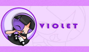gift: Violet SA (sonic chennel style)+ wallpaper by JizeruXhikuro