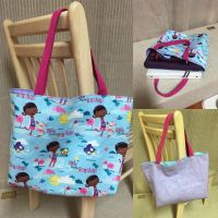 Doc McStuffins - Reversible Tote Bag by chishio-kyuuban