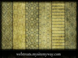 Vintage Pea Green Patterns by WebTreatsETC