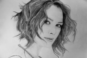Lena Headey Portrait by Xephiron