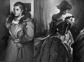 Old master studies. by Andres-Blanco