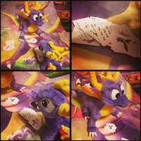 StD-Sharky vs Classic Spyro in a Card Match by KrazyKari