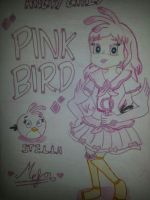 Angry Girls/Angry Birds: Pink Bird Girl by MeganLovesAngryBirds
