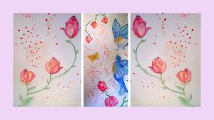 Spring triptych by GeaAusten