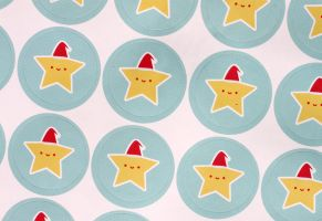 Christmas Star Stickers by apparate