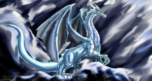 Ice dragon by Lena-Lucia-dragon