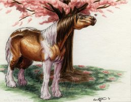 Boeden and the Cherry Tree by lantairvlea