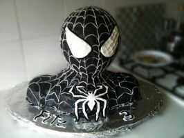 Black spiderman bust Cake 2 by serseus