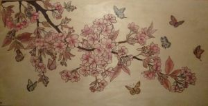 Cherry Blossoms and Butterflies by dppratt
