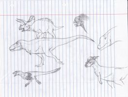 Free hand Sketches by TheMacronian
