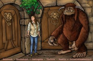 Ludo and Sarah from LABYRINTH by JeremiahLambertArt