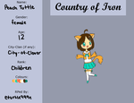 Country of Iron: Peach Tuttle by eturtle999e