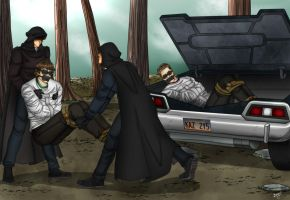 Sam and Dean abducted by the Brotherhood by Carnath-gid